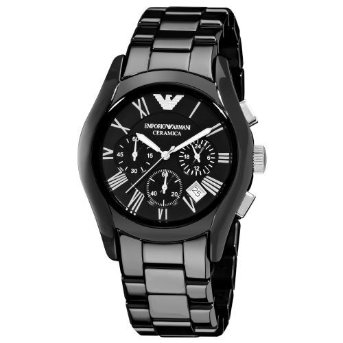 Emporio ARMANI Ceramica Black Ceramic Chronograph Watch AR1400
